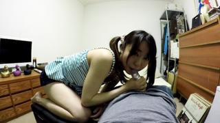 日本VR成人 可愛雙馬尾妹妹幫我口交