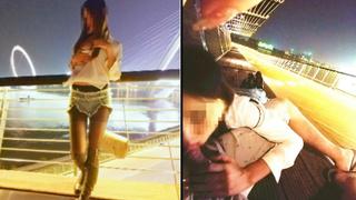 [JAV101本土精選!]網拍模特趁人少時玩口交 帶回房主動趴上來 太舒服直接內射了