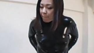 日本ラテックスキャットスーツ09