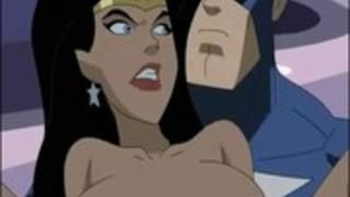 スーパーヒーロー変態 - キャプテン·アメリカVSワンダーウーマン