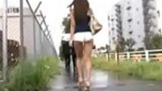 日本の女の子ホットパンツが犯された